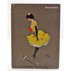 "1902 TURKISH TOBACCO ADVERTISING CARD / PRINT - 6"" X 8"""