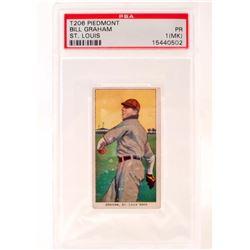 1909-11 T206 PIEDMONT BILL GRAHAM BASEBALL CARD - PSA PR1