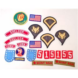 LOT OF APPROX. 23 VINTAGE BOY SCOUT PATCHES - SHELDON, IA