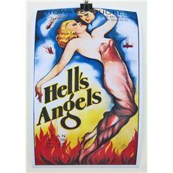 """JEAN HARLOW """"HELLS ANGELS"""" MOVIE POSTER"""