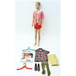 1963 KEN DOLL IN ORIG. CLOTHING W/ ACCESSORIES