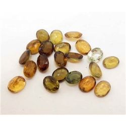 LOT OF 9.32 CTS OF YELLOW NIGERIAN TOURMALINE GEMSTONES