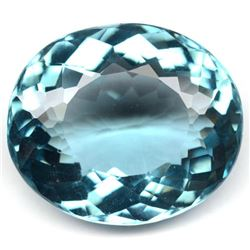 35.67 CT AQUAMARINE BLUE AFRICAN QUARTZ