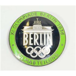 GERMAN NAZI BERLIN SUMMER OLYMPICS FILM MAKER BADGE