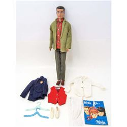 1962 KEN DOLL W/ CLOTHES & ACCESSORIES