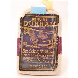 VINTAGE BULL DURHAM SMOKING TOBACCO ADVERTISING POUCH