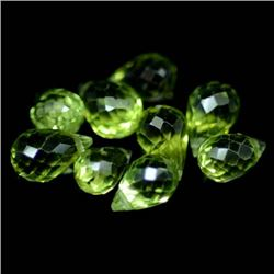 LOT OF 7.99 CTS OF GREEN PAKISTAN PERIDOT - 9 PIECES