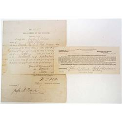 1864 CIVIL WAR SOLDIER'S PENSION FOR HIS WIDOW PAPER