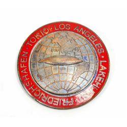 GERMAN NAZI GRAF ZEPPELIN TOKIO - LOS ANGELES - LAKEHURST TOUR BADGE
