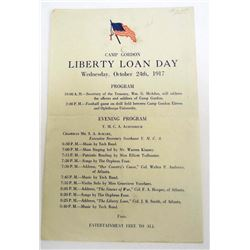 1917 CAMP GORDON LIBERTY LOAN DAY PROGRAM