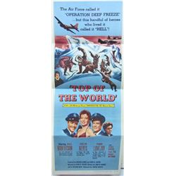 "1955 ""TOP OF THE WORLD"" INSERT MOVIE POSTER"