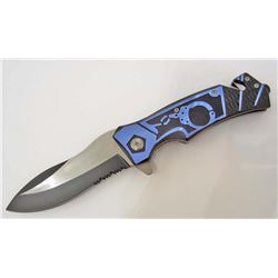 POLICE STYLE SPRING ASSISTED RESCUE KNIFE