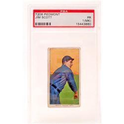 1909-11 T206 PIEDMONT JIM SCOTT BASEBALL CARD - PSA PR1