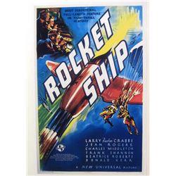 """ROCKET SHIP"" MOVIE POSTER PRINT"
