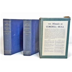 """1948 TWO VOL. SET """"THE MEMOIRS OF CORDELL HULL"""" HARDCOVER BOOKS"""