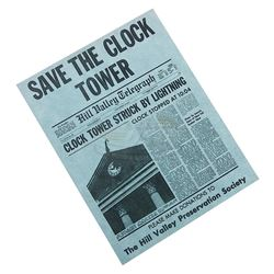 "Back To The Future - ""Save The Clock Tower"" Flyer - 17678"