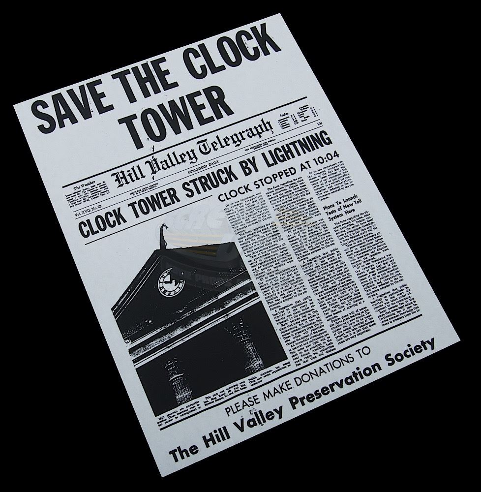 back to the future -  u0026quot save the clock tower u0026quot  flyer