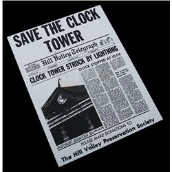 "Back To The Future - ""Save The Clock Tower"" Flyer - 17720"