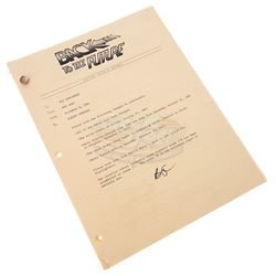 Back To The Future - Inter-Office Memo & Script Changes - 18252