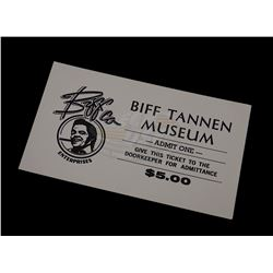 Back To The Future 2 - Biff Tannen Museum Ticket - 18298