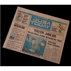 Back To The Future 2 - USA Today  Hill Valley Edition  Newspaper  Youth Jailed  - 18327