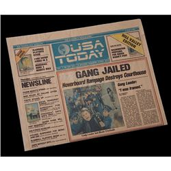 Back To The Future 2 - USA Today  Hill Valley Edition  Newspaper  Gang Jailed  - 18328