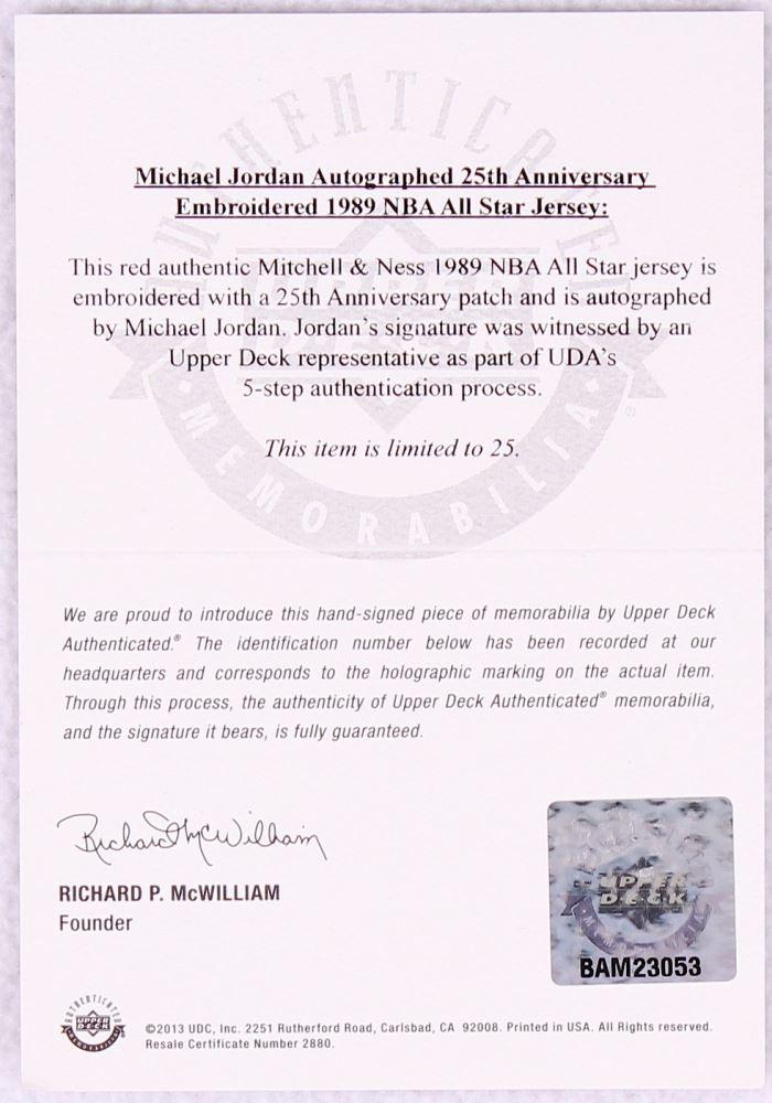 84804794e502 ... Image 5   Michael Jordan Signed Bulls LE 1989 All-Star Game Jersey (UDA