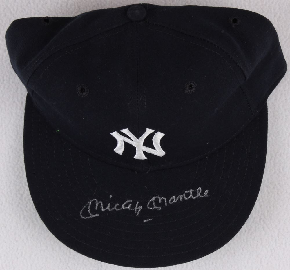 da2d49032db Image 1   Mickey Mantle Signed Yankees New Era Fitted Hat (JSA LOA) ...