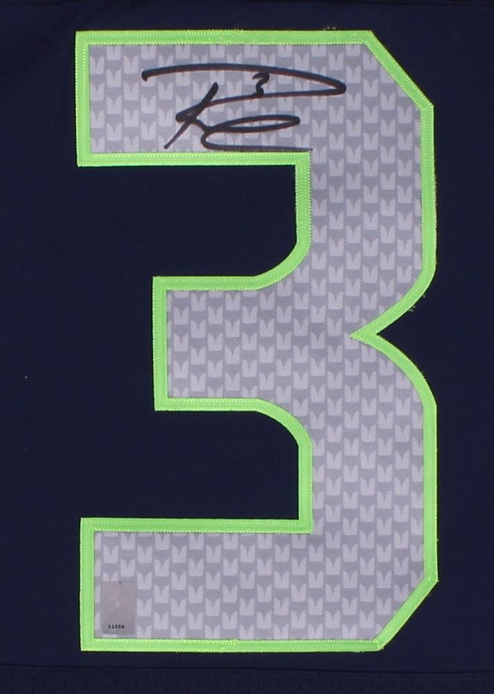 best website 54625 bcdbb Russell Wilson Signed Seahawks Nike Elite Authentic On-Field ...