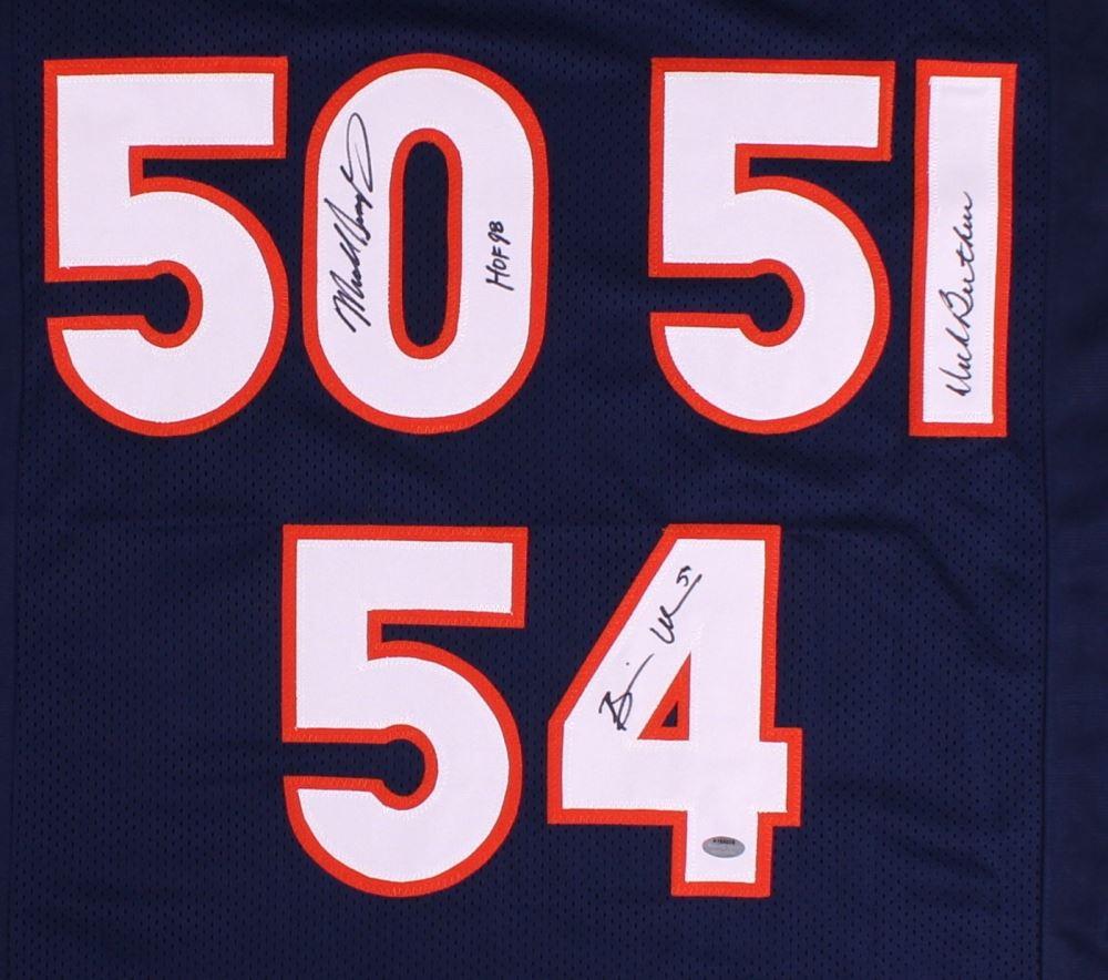 e9b67ddbdf9 ... Image 2 : Dick Butkus, Brian Urlacher & Mike Singletary Signed Bears