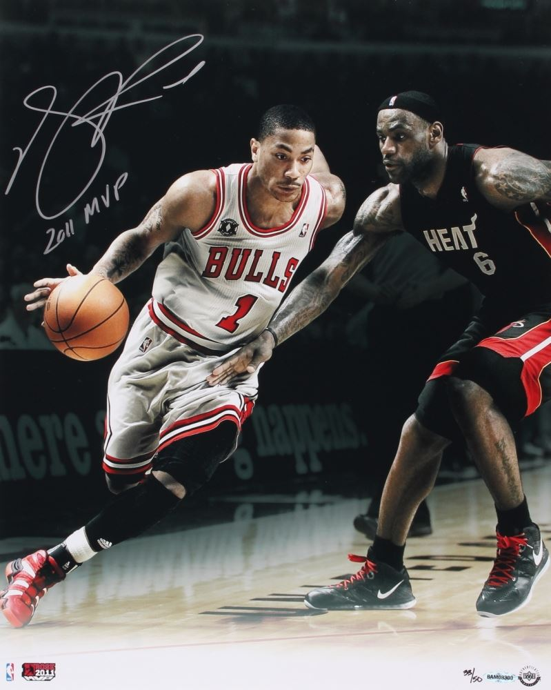 f9dd516fb05 Image 1   Derrick Rose Signed Bulls Limited Edition 16x20 Photo Inscribed