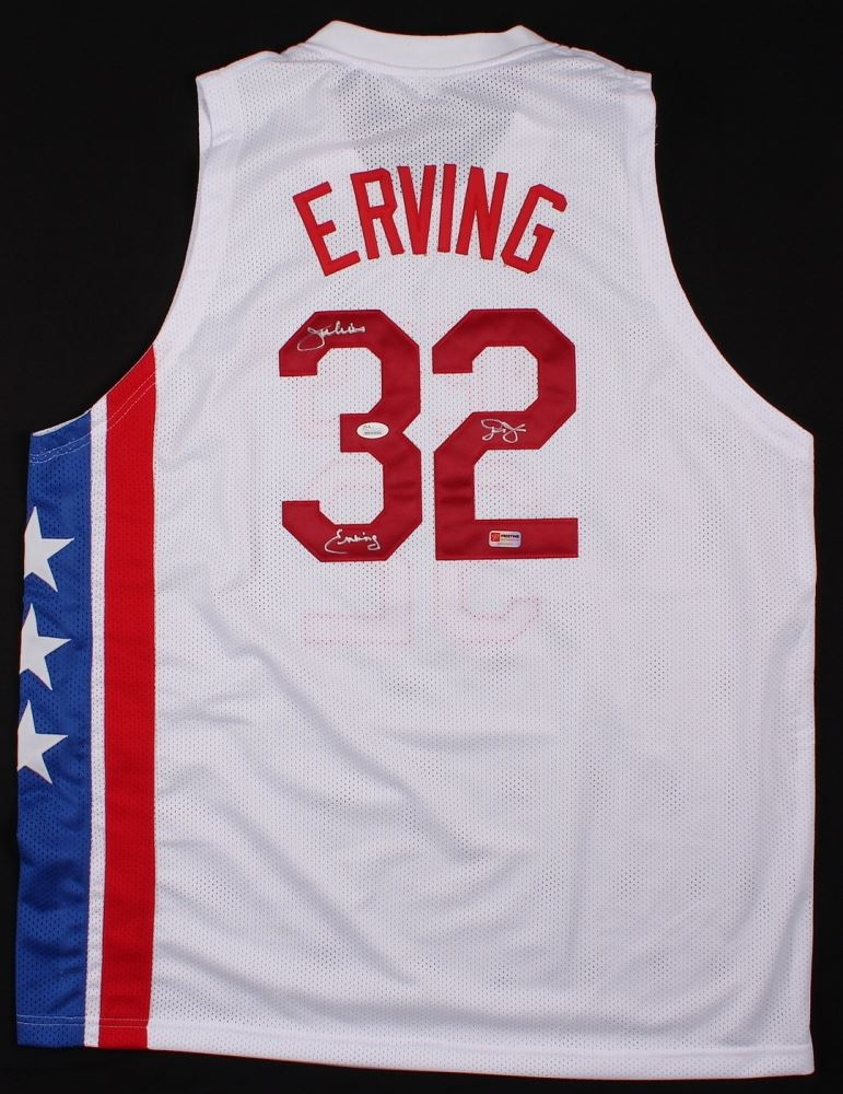 9ba1f9a01 Image 1 : Julius Erving Signed Nets Throwback Jersey Inscribed