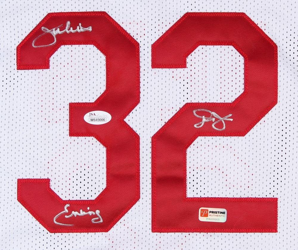 2afd083e ... Image 2 : Julius Erving Signed Nets Throwback Jersey Inscribed