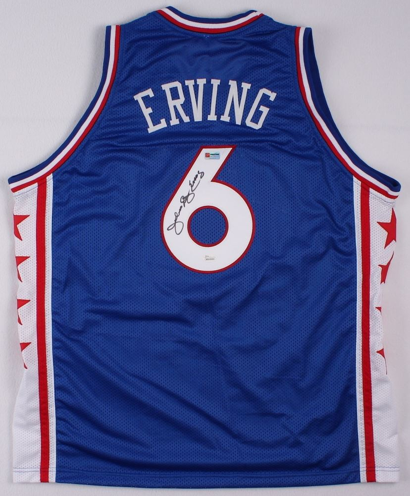 ad11ee77 Image 1 : Julius Erving Signed Sixers Throwback Jersey Inscribed