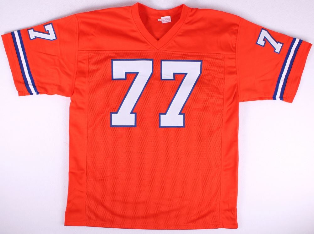 timeless design 1f979 39a2b Broncos Throwback Jersey Signed by (10) with Tom Jackson ...