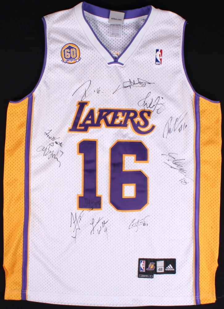 finest selection f5693 55762 Pau Gasol 60th Anniversary Lakers Jersey Signed by (11 ...