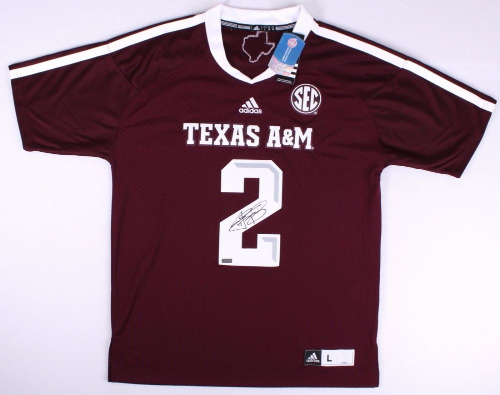 online store 13871 2eaae Johnny Manziel Signed Adidas Authentic On-Field Texas A&M ...