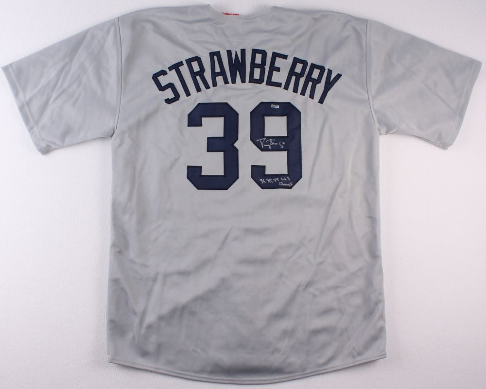 best loved e4d0b 71f6d Darryl Strawberry Signed Yankees Jersey Inscribed