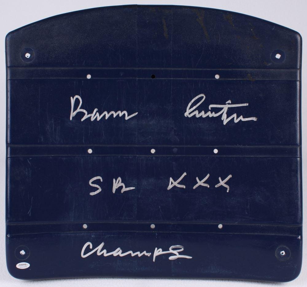 0f4ae392 Barry Switzer Signed Game-Used Dallas Cowboys Blue Stadium Seat ...