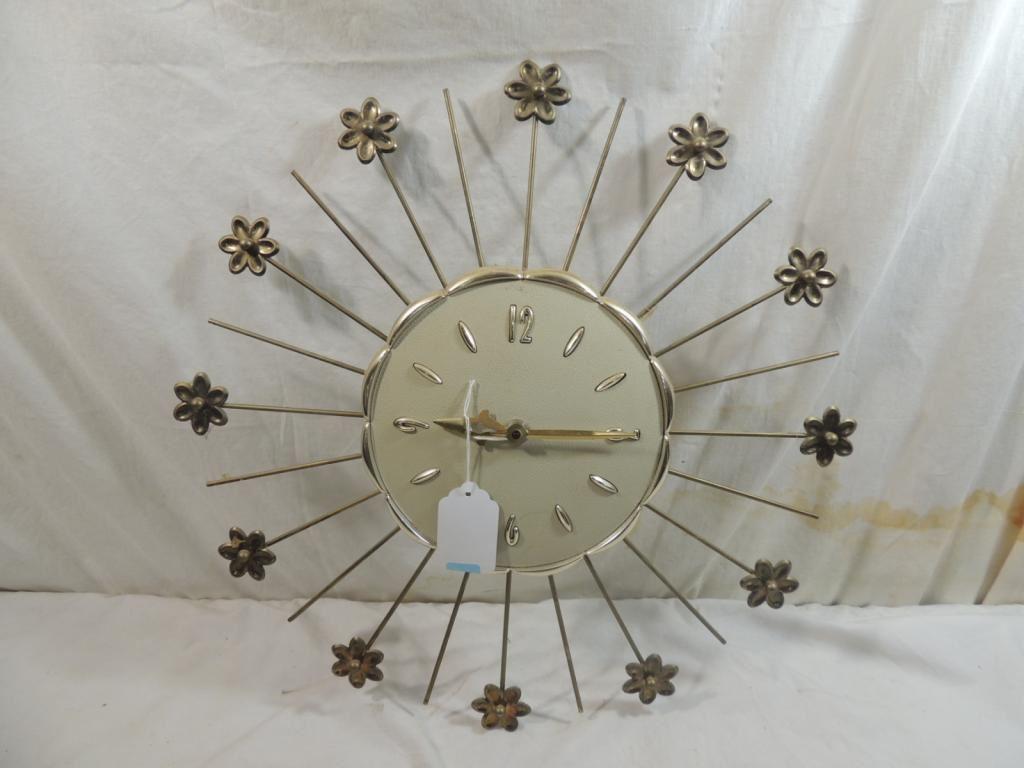 Image of: Mid Century Modern Burst Wall Clock