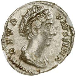 ROMAN EMPIRE: Faustina Senior, wife of Antoninus Pius, 138-140 AD, AR denarius