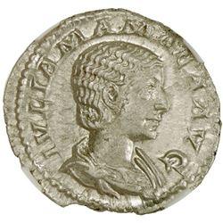 ROMAN EMPIRE: Julia Mamaea, mother of Severus Alexander, 222-235, AR denarius