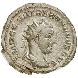 ROMAN EMPIRE: Trebonianus Gallus, 251-253 AD, AR antoninianus