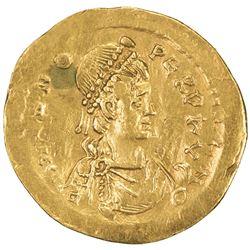 ROMAN EMPIRE: Zeno, 2nd reign, 476-491, AR semissis (2.10g), [Constantinople]