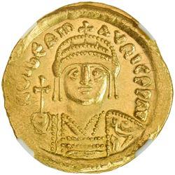 BYZANTINE EMPIRE: Maurice Tiberius, 582-602, AV solidus (4.49g), Constantinople