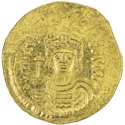 BYZANTINE EMPIRE: Maurice Tiberius, 582-602, AV solidus (4.45g), [Constantinople]
