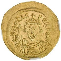 BYZANTINE EMPIRE: Phocas, 602-610, AV solidus (4.45g), Constantinople