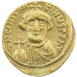 BYZANTINE EMPIRE: Constans II, 641-668, AV solidus (4.35g), [Constantinople]