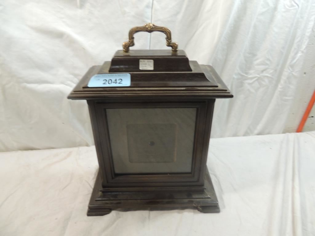 Antique Wood Clock Holder W Parts