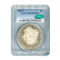 1880-S $1 Morgan Silver Dollar Deep Mirror PCGS MS64